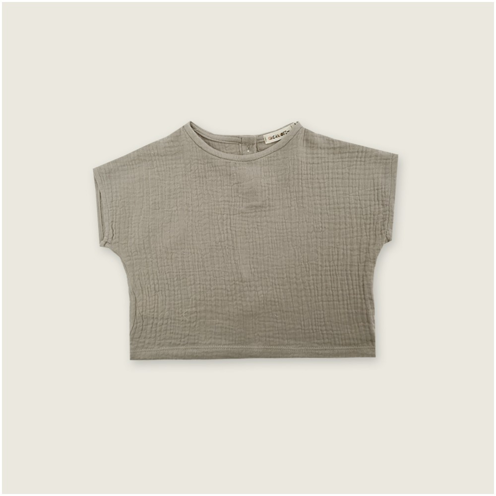 Camisa muselina color taupe