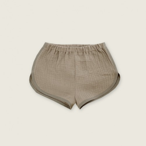 Short muselina taupe